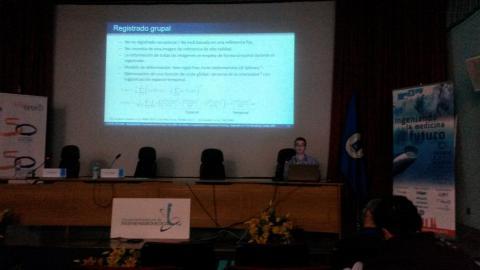 Javier Royuela presenting his contribution